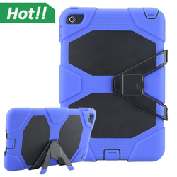 2015 Newest Fashion Shockproof Rugged Hybrid Heavy Duty Protective PC Rubber Cover Case for iPad MIni 4