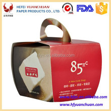 Disposable portable paperboard cake box made in china factory