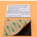 Usine directe solaire adhésif personnalisé ABS étiquette d'avertissement Kits
