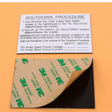 Factory Direct Solar Adhesive Customized ABS Warning Label Kits