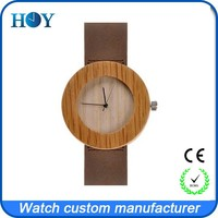 Hot sale factory price high quality with Miyota movment unique newest design maple wood watch