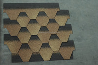Astm Standaed Desert Tan Tile Mosaic for Round House Roof in China