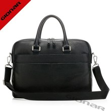 Korea brands men leather bags , embossed leather expandable briefcase , business laptop bag