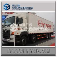 HINO 8x4 van truck/cargo box van/refreezer truck