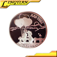 2015 new fashion promotional lovers commemorative and bird fairy silver coin