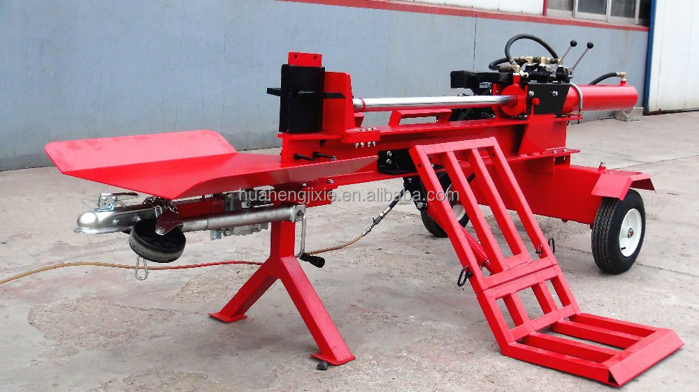 Wood Splitter With Lift : Hot sale ton gasoline wood log splitter with hydraulic