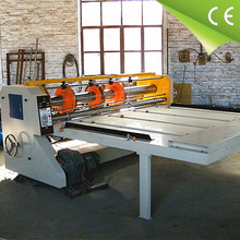 carton box processing supplying machinery semi automatic slotting creasing and die cutting machine