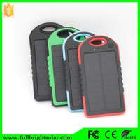 2015 New Design Colorful Waterproof Portable Solar Mobile Phone Battery charge