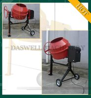 DW35 portable concrete mixer with plastic drum