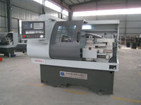 CK6136A-1 used cnc lathe machine/ wheel lathe/ cnc lathe chuck Automatic Bar Feeder