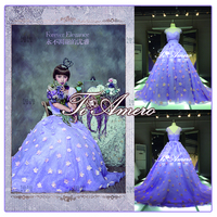 TWX-7925 CX Flower Fairy England Britain Best A-Line Formal Wedding Evening Dress/Removale Tail Deta Chalble Wedding Dress 2015