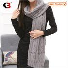 2015 novos produtos promocionais Lady lã lenço feito malha fabricante