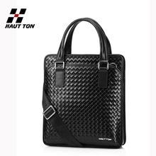 Custom printed genuine leather italian bag men