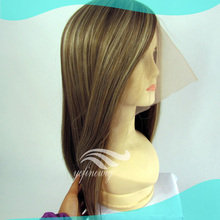 Top Grade Blonde Human Hair Real Hair Wigs For Women With Highlights