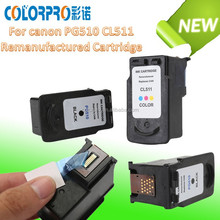 2015 new products remanufactured ink cartridge for canon PG 510 CL 511 for For Canon Pixma MP480 MP490 MP495