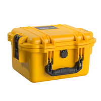 transport equipment case with foam and handle