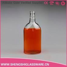 De alta calidad vacío 500ml pequeño de vidrio botella de licor, vidrio de botella de vino