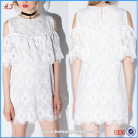 The Most Beautiful Flower Girl Short Mini Dresses White Scalloped Lace Dress Girls Without Dress Sex Picture