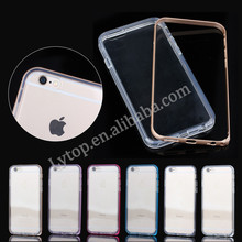 Metal bumper case for iPhone 6, phone tpu cover for apple iphone 6
