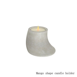 Western concrete home decor mango shape cement danish candle holder
