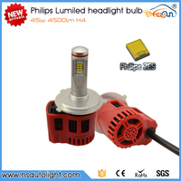 Newsun New arrival Lumileds G6 H4 led high low beam leds headlight 45w 4500LM with ZES chips