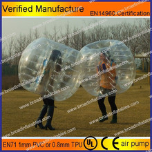 HOT!! Best selling popular body inflation ball suit/body bubble zorb