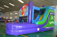 Sale Cheap Price Inflatable Bouncy Castle With Basketball Hoop For Kids