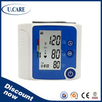 Fully automatic high accuracy 2 years warranty wrist type digital bp apparatus meter/medical devices