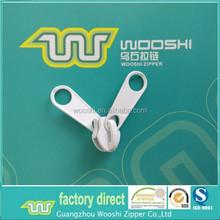 Zinc alloy zip slider double pull tab for 10# tents nylon zipper
