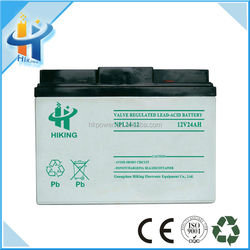Export special design 12 volt Dry Rechargeable storage battery
