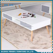 2015 blanco brillo mesa de café, madera mesa auxiliar, ikea mesa de té