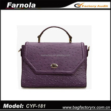 hot sell wholesale ostrich print leather fashion handbags manufacturer 2015 famous brand women shoulder bag