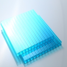6mm Polycarbonate Hollow Sheet PC Sun Panel pc sheet for Building/Roof/Awning