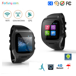 OEM Shenzhen factory wifi smart watch android dual sim 3g watch phone with nice design