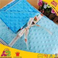MOQ 50PCS 2015 newest design skin friendly SGS checked light blue blanket