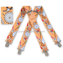 men's work cheap suspenders with bright color