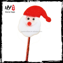 christmas giveaway plush pen, christmas promotional gift, christmas santa promotional ball pen