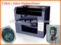 Hot t- camisa máquina de impressão para 2d/3d imagem em pano de seda e