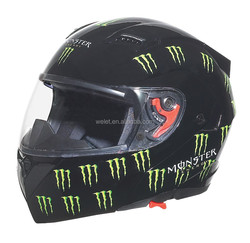 DOT New model double visors flip up helmet WLT-118 BLACK 1 MONSTER3