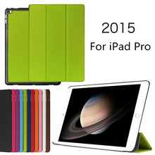 2015 high quality tablet cover for ipad pro 12.9, for ipad pro flip stand leather smart case