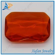 large rectangle shape diamond cut glass gems
