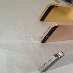 24K 24ct 24kt GOLD/ Rose gold /platinum back cover For iPhone 5 mirror high polished 24k gold housing for iphone 5s 6