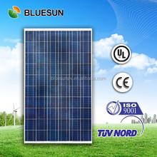 Bluesun factory directly supply high efficiency sunpower pv poly 250w marine flexible solar panel