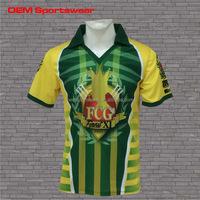 Custom high quality polyester cricket jerseys