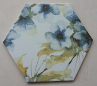 Hexagonal art ceramic tiles for Floor and Wall