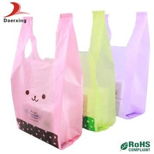 factory price buyer request design your own t-shirt plastic bag