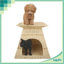 Safety waterproof moden design wicker handmade dog nest