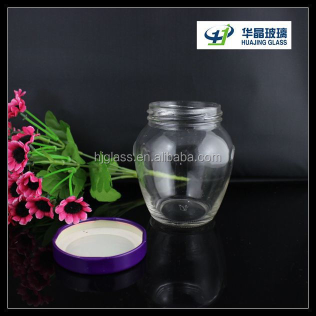 300ml 10oz custom made glass jam jars for canning with. Black Bedroom Furniture Sets. Home Design Ideas