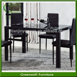 China suppier New Design Ikea glass dining table