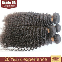 Factory price fashion hair extension , light brown curly weave extensions